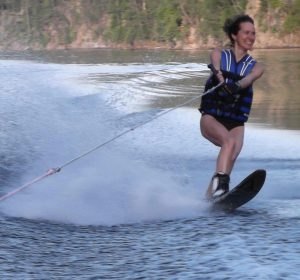 Laura-water-skiing