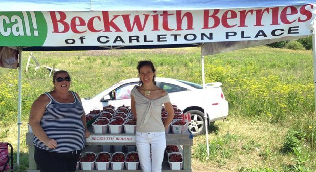 Cheryl of Beckwith Berries who serves me every summer.
